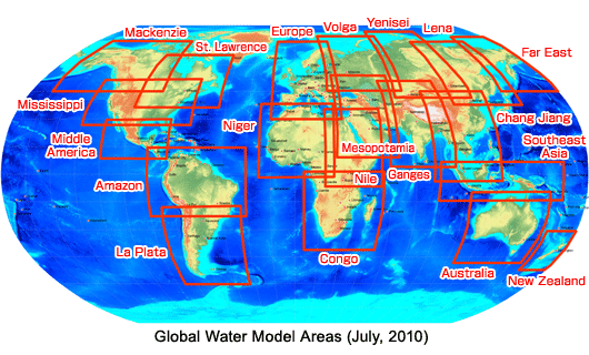 Global Water Model Areas
